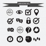 Sieci ikona ustawiająca ilustracja Zdjęcia Stock