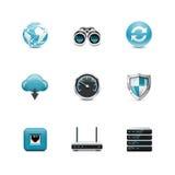 Sieci ikony. Azzuro serie ilustracji