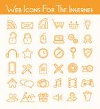 Sieci ikony dla interneta ilustracja wektor