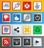 Sieci ikony i guziki royalty ilustracja