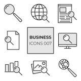Sieci ikony rewizja ilustracja wektor