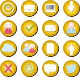 Sieci ikony ustawiać Fotografia Stock