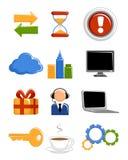 Sieci ikony ustawiać Zdjęcia Stock