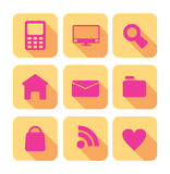 Sieci ikony ustawiać Zdjęcie Stock