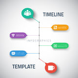 Sieci Infographic linii czasu szablonu układ Z ilustracja wektor