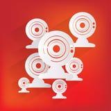 Sieci kamery ikona ilustracji