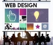 Sieci Komputerowej Homepage Html sieci Graficzny pojęcie Obrazy Stock