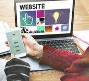 Sieci Komputerowej Homepage Html sieci Graficzny pojęcie Zdjęcie Royalty Free