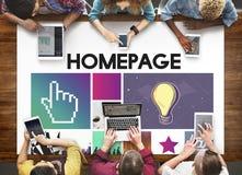 Sieci Komputerowej Homepage Html sieci Graficzny pojęcie Fotografia Stock