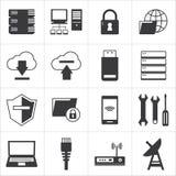 Sieci komputerowej i bazy danych ikona royalty ilustracja