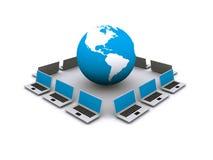 sieci komputerowej sieci szeroki świat ilustracja wektor