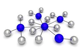 Sieci komunikacyjna sieć 3d Obrazy Royalty Free