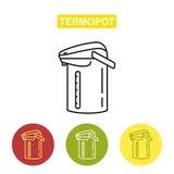 Sieci kreskowa ikona Thermopot Fotografia Stock