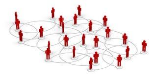 sieci ludzie ilustracji