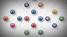 Sieci ludzie koloru Lite royalty ilustracja