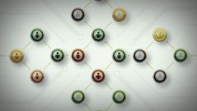 Sieci ludzie Zielonego Lite royalty ilustracja