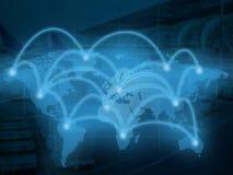 Sieci mapy technologii transport Obrazy Stock