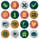 Sieci mieszkania ikony Obrazy Stock