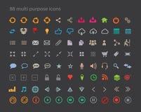 88 sieci, Mobilnych i Różnych ikony Czyste, ilustracja wektor