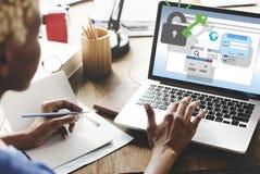 Sieci ochrony ochrony bezpieczeństwa Internetowy pojęcie obrazy stock
