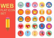 Sieci ogólnoludzkiego mieszkania biznesowe ikony ustawiają wektorowego ilustracyjnego projekt Ogólny symbolu zastosowanie Zdjęcia Stock