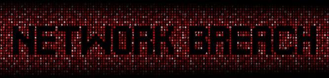 Sieci pogwałcenia tekst na hex ilustracji obrazy stock