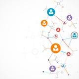 Sieci pojęcie, Ogólnospołeczni środki/ Zdjęcie Royalty Free