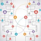Sieci pojęcie, Ogólnospołeczni środki/ Zdjęcia Stock