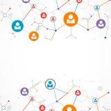 Sieci pojęcie, Ogólnospołeczni środki/ Obraz Royalty Free