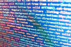 Sieci programowania i wspornik technologii tło Strona internetowa kody na komputerowym monitoru Php języka i cyfrowanie funkcji p obrazy stock