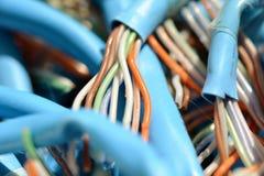 Sieci Przesyłania Danych kable, druty/ Zdjęcie Royalty Free