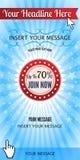 Sieci reklam sztandary Obraz Royalty Free