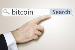 Sieci rewizja dla bitcoin Zdjęcia Stock