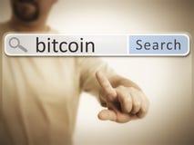 Sieci rewizja po bitcoin Obrazy Royalty Free