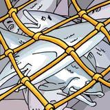 sieci rybackich ilustracja wektor