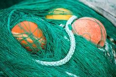 Sieci rybackie i pławiki Fotografia Royalty Free