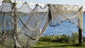Sieci rybackie i ryba oklepowie Obrazy Stock