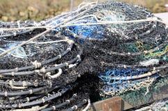 Sieci rybackie używać rybakami gdy łowiący na morzach Fotografia Stock