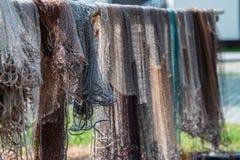 Sieci rybackie w świetle słonecznym zdjęcia royalty free