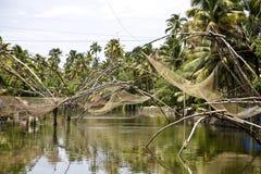 Sieci rybackie w India Obrazy Stock