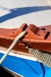 Sieci rybackiej lying on the beach w słońcu Zdjęcia Stock