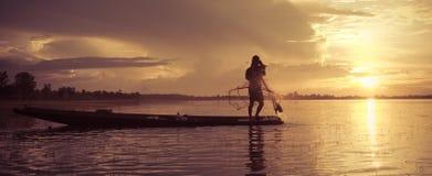 sieci rybackiej miotanie Zdjęcie Royalty Free