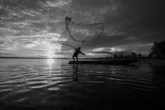 sieci rybackiej miotanie Obraz Stock