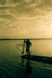 sieci rybackiej miotanie Obrazy Royalty Free
