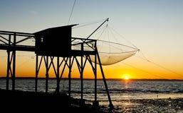 sieci rybackiej molo Obrazy Stock