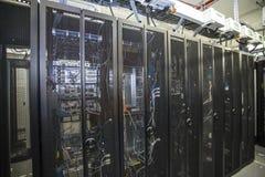 Sieci serweru pokój Zdjęcia Stock