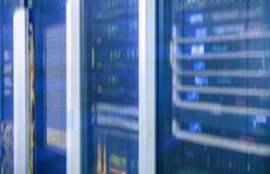 Sieci serweru pokój Futurystyczny techno projekt Obraz Royalty Free