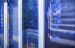 Sieci serweru pokój Futurystyczny techno projekt Obrazy Royalty Free