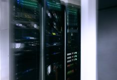Sieci sieć, internet telekomunikacyjna technologia, duży przechowywanie danych Fotografia Stock