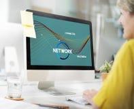 Sieci sieci Komunikacyjny Podłączeniowy pojęcie Zdjęcia Royalty Free